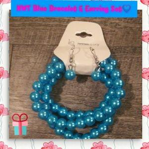 NWT Blue Bracelet & Earring Set💙💙💙